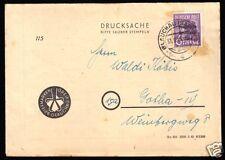 Werbedrucksache der Fa. Briefmarken-Greif, Glauchau vom 31.8.48