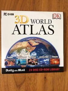 PC CD-ROM 3D World Atlas (DK / Daily Mail Promo)