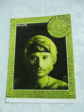 carte postale affiche philips  JOHNNY HALLYDAY