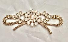 NEW Anthropologie Jeweled Crystal Statement Bracelet Gold-Tone Adjustable Length