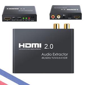 Convertisseur d'adaptateur répartiteur audio HDR HDMI vers TOSLINK SPDIF+RCA L/R