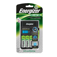 Energizer AA/AAA 1 Hour Charger with 4 AA NiMH Rechargeable Batteries