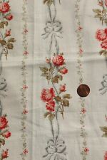"Antique French c1900 Roses, Ribbons & Bows Cotton Fabric~L-18""X W-16"""
