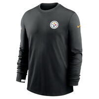 New 2020 Pittsburgh Steelers Nike Sideline Logo Performance Pullover Sweatshirt