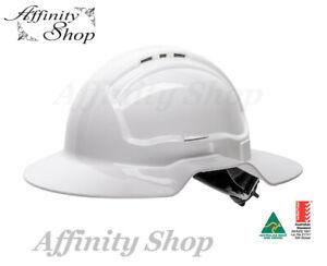 Wide Brim Hard Hat Ratchet Mech Aussie Made Tuffguard Brimmed Helmet Work NEW!