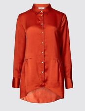 New With Tags M&S Per Una Satin Long Sleeved Size 6 Copper Shirt.RRP£29.50