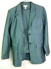 Ann Taylor womens linen blend gray pantsuit size 6