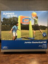 Summer Waves Jumbo Inflatable Basketball Set- 6 ft Tall - NEW - FAST SHIPPING!