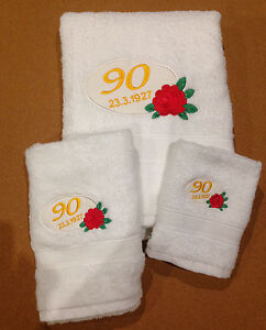 personalized embroidered bath towel,hand towel and face washer set