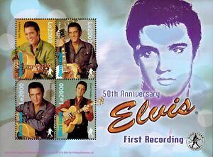MODERN GEMS - Sierra Leone - Elvis 1st Recording 50th Anniv II - Sheet of 4 -MNH