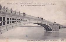 PONT-SAINT-ESPRIT 35 l'arche marinière du pont crue du rhône écrite 1915