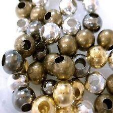 200 Piezas 4 Mm Hierro encontrar Beads-Color mezclado-a6778