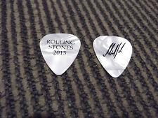 Rolling Stones 2013 Signature MIck Taylor Guitar Pick White Pearl / Black