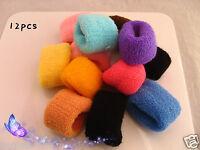12pcs Set Thick Hair Elastic Band Bobble Colourful Hair Accessories