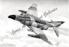 """Robin Olds' F-4C Phantom II """"Scat XXVII"""" Giclee & Iris Prints by Willie Jones Jr"""