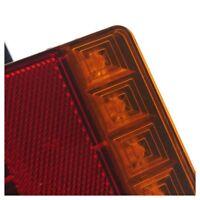 2- Light LED Rear Board Lamps Tail BRAKE STOP INDICATOR LAMP Trailer Truck S6E3