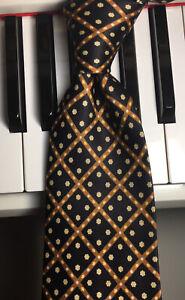 STEFANO RICCI / VINTAGE LUXURY / Black Diamond & Flower Dotted Check Silk Tie
