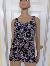 WHITE HOUSE BLACK MARKET paisley stretchy ruffle top size XS