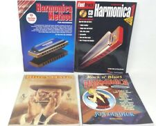 4 Books on Harmonica Playing Instructional Music Cds included
