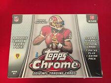 2012 TOPPS CHROME NFL TRADING CARD BOX SEALED