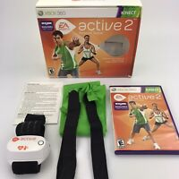 Xbox 360 Active 2 Personal Trainer Kinect Workout Original Box Complete CIB