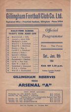 Gillingham Home Team Reserves Football Programmes