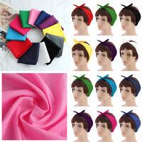 Women Cotton Magic Multifunctional Square Scarf Knot Hairband Bandana Head Wrap