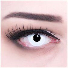 """Coloured Contact Lenses White """"Vampire"""" Contacts Color Carnival + Free Case"""