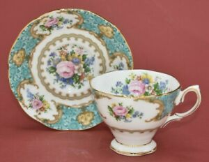 Royal Albert Lady Ascot (Blue Carlyle) Tea Cup & Saucer ~ New & First Quality