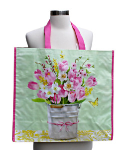 NEW TJ Maxx Large Shopping Bag Tote Reusable Eco Friendly Spring Floral
