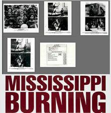 Mississippi Burning 1988 Press Publicity Photo Still Kit 8x10~Gene Hackman 4 pcs