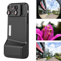 """Camera Lens Fisheye Wide-angle Telephoto Macro Case Cover 6in1 For iPhone X 5.8"""""""