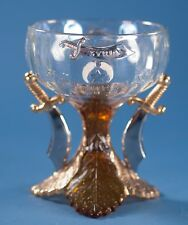 1909 Shriners Masonic Syria Temple US Glass Goblet Louisville, KY Pittsburgh