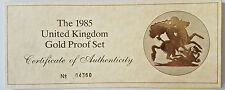 1985 GOLD PROOF 4 FOUR COIN SET  COA ONLY