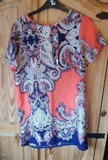 Ladies 'BOOHOO' Multi colour short sleeve casual dress. Size 10. vgc.