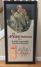 RARE Vintage 1920's NYAL Medicines Pharmacy Drug Store Advertising Sign 42x21
