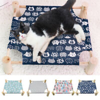 Washable Elevated Raised Dog Bed No-Slip Pet Cot Cat Hammock Sleeping Bed &Cover