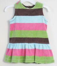 babyGAP Size 6-12 Months Multi-Color Fleece Striped Sleeveless Dress