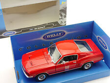 Welly 22522 1967 Ford Mustang GT Rot  1:24 Modellauto MIB  OVP 1602-27-66