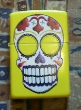 SKULLS DAY OF THE DEAD ZIPPO LIGHTER FREE P&P FREE FLINTS