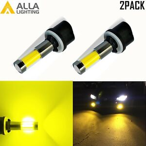 AllaLighting 3000K 880 LED Fog Light Bulb Cornering Lamp Replacement Gold Yellow
