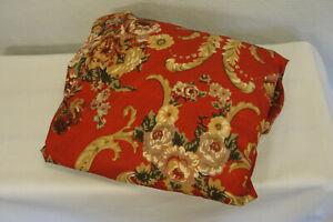 LRL Lauren Ralph Lauren One Twin Deep Fitted Marseilles Red Floral Sheet NWOT