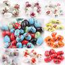 New 5/10Pcs Ceramics  Porcelain Flower Pattern  Loose Spacer Bead Charms DIY