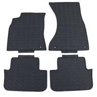 Premium Gummi Fußmatten Set 4-teilig Schwarz für Audi A4 B8 8K 07-15