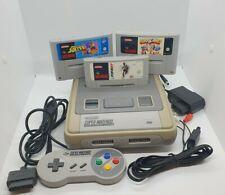 Super Nintendo Konsole  (SNES) mit 3 Spielen, 1 Controller und Anschlusskabeln
