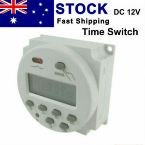 DC 12V Timer Switch Digital Programmable Control LCD Time Relay Day/Week Set NEW