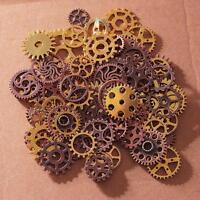 Vintage Metal Gears Charms For Jewelry Making Diy Steampunk Pendant /lot Q.