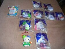 McDonalds Happy Meal Hello Kitty Lot 2000 2001 Mix MIP Loose Clips 11 Stickers