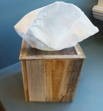 Tissue Box Cover in Rustic Barnwood AllBarnWood Farmhouse Decor Reclaimed Wood