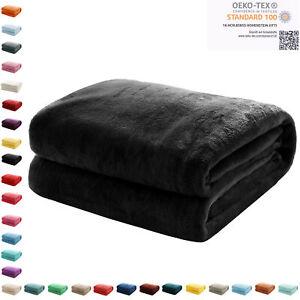 Kuscheldecke Flauschige Wohndecke Fleecedecke Sofadecke Bettüberwurf 220 x 240cm